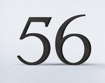 Flat Cut Acrylic House Numbers - Trafalgar