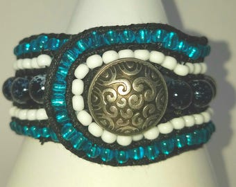 Boho style beaded bracelet