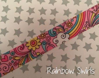 Rainbow Swirls Dummy Clip