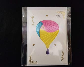 Handmade Hot Air Balloon Birthday Card
