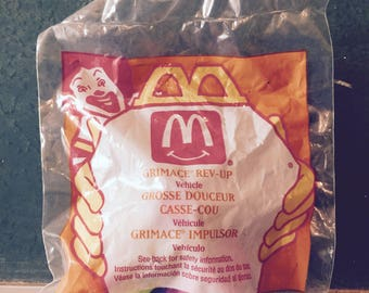 Vintage McDonald's Grimace/ Ronald Rev-Up Happy Meal Toys. Mint in Package