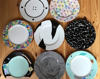 Set of 8 Swid Powell Architect Designed Plates and Mugs