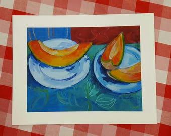 Giclee Print - 8x10 - Cantaloupe
