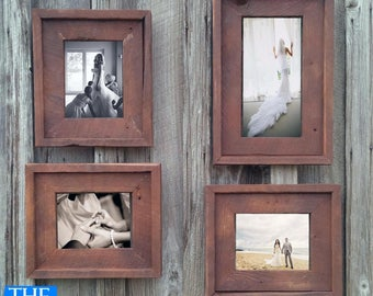 Gallery Wall(All Finishes) -Includes 3- 8.5x11 Frames & 1- 11x17 Frame - The Loft Signature Quality Handmade Rustic Barn Wood Frame  (Sale!)