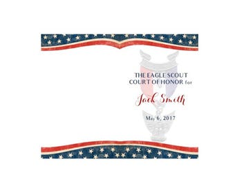 Eagle Scout Court of Honor Program Cover - Digital File