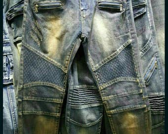 Mens super skinny biker style jeans