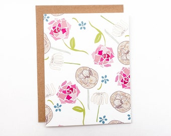 Funky Floral Card