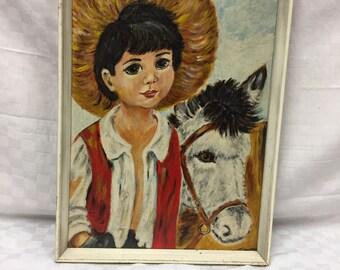 Original retro painting