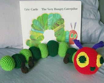 The Very Hungry Caterpillar Stuffed Animal Plushie Crochet