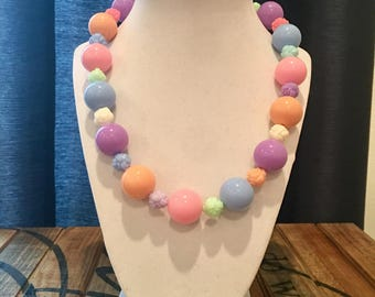 Pastel chunky necklace for girls