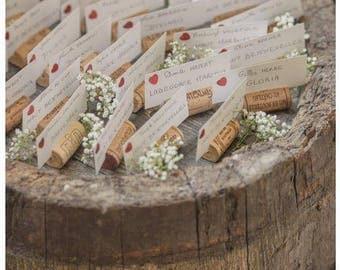 200 Wine Cork Placecard Holders