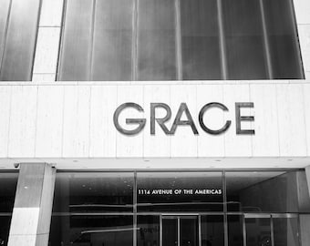 "Digital art, Printable Original Art, 300 dpi 24x36 and 8x12 Photo of the Grace building in Manhattan "" GRACE on AVENUE of the AMERICAS"""
