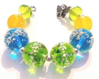 Silver Glitter Round Bead Set