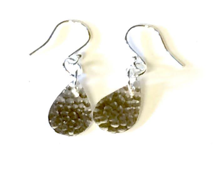 Hammered 'Pear-drop' Earrings