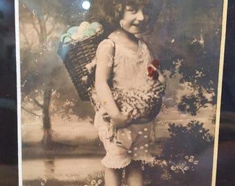 Vintage Framed Easter Greetings Postcard