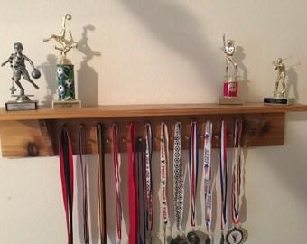Cedar Trophy Wall Display Shelf