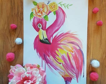 Floral the Flamingo