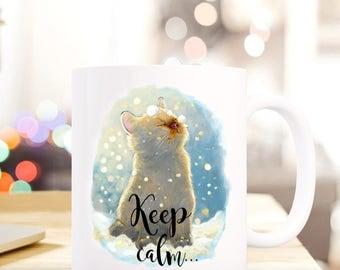 Gift coffee cup cat kitten magic TS406