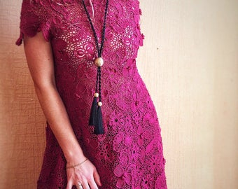 Crocheted dress Cherry