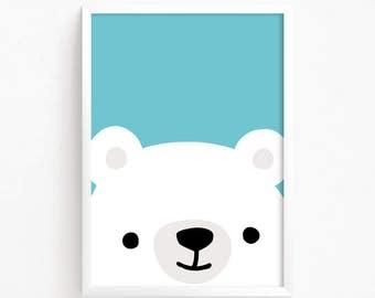 Sale 50% Off - baby Bear Poster ( Nursery art, Printable art, Nursery decor, Animal art, Baby animals, Kids art, Nursery animals, Wall art )