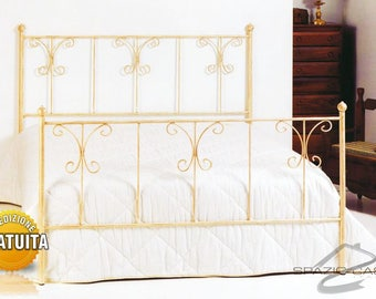 Wrought iron bed 100% Made in Italy craftsmanship Elena
