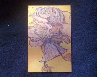 Burning the Midnight Honey- Artist Trading Card (Metallic)