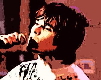 Ian Brown Stone Roses Canvas Art Print