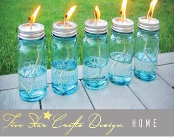 4th of July Outdoor Lighting,Mason Jar Tiki Torches,July 4th Patio Light,Summer Outdoor Decor,Outside Lighting,Summer Decor,Patio Light