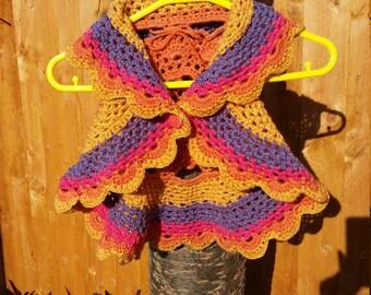 Handmade, crochet, child's mandala waistcoat