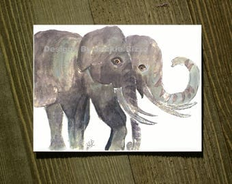 Elephant - Note card sets featuring designs by Jackie Rizzo - Pack of 20 with envelopes