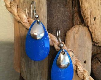 Fishing Lure Earrings- Fishing Jewelry- Lure Earrings- Spoon- Dangle Earrings- Gift for her- Nautical Jewelry- Unique Gift