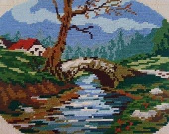 Old bridge gobelin tapestry high  quality