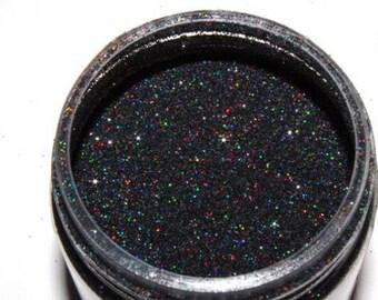 Black like my soul glitter polish