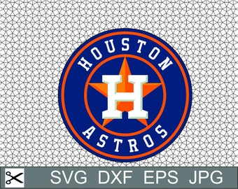 Houston Astros Baseball Layered SVG Dxf EPS Logo Vector File Silhouette Studio Cameo Cricut Design Template Stencil Vinyl Decal Tshirt Craft