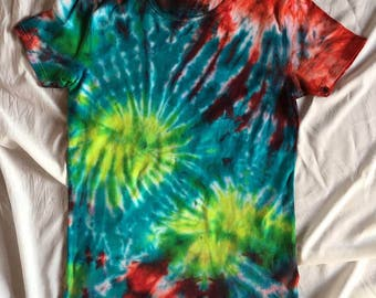 coulourful hand-dyed shirt