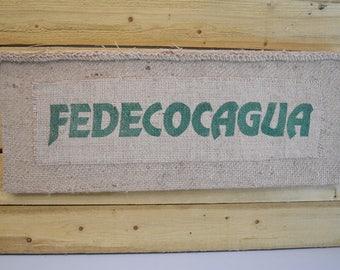 Burlap Coffee Sack Wall Art Hanging Fedecocagua