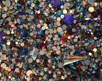 Mix Bag of Swarovski/Preciosa Rhinestone Crystals