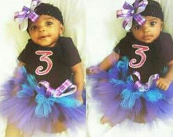 "Custom ""Number"" tutu outfit"