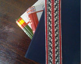 Handmade cross stitch bookmark ethno style embroidery