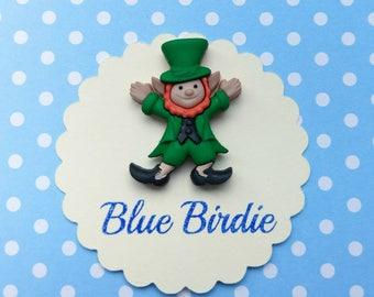 Leprechaun brooch leprechaun jewelry leprechaun jewellery lucky charm jewellery leprechaun gift good luck gift St Patricks Day gift