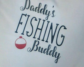 Daddy's Fishing Buddy Raglan Shirt