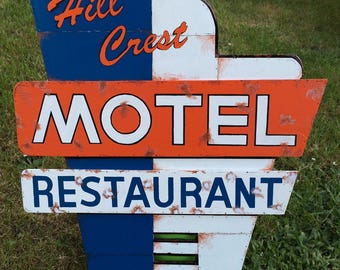 Hill Crest Motel Sign