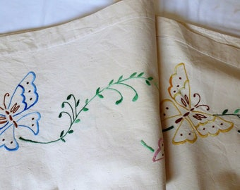Bed linen - bedding - embroidered cloth - embroidered fabric - Home Decor - home furnishings - linen House - Butterfly accessories and supplies.