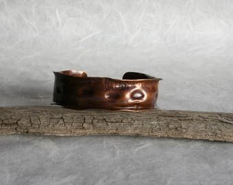 Air cashed copper bangle bracelet, forged copper bangle, hammered cuff/bangle