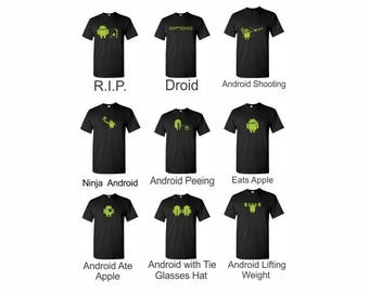 Android T-Shirt - Geek T-Shirt  Google Android Robot Apple Funny I fixed T shirt Humor Geek T-shirt Tee