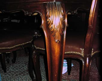 Piedmontese Baroque dining room table, 50/60 Years