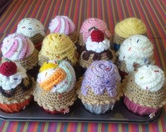 Crochet Amigurumi Cupcake Plushie , Play Food , Tea Party , Pincushion