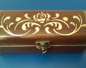 Original wooden jewelry box.