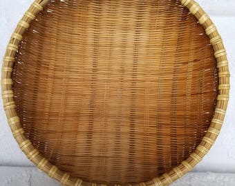 Vintage Winnowing Basket / Wall Basket