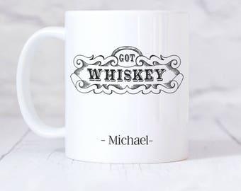 Personalised Got Whiskey Ceramic Mug Gift Boxed